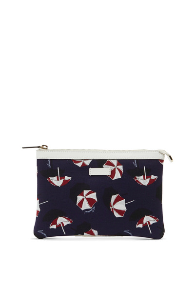 Gucci - Navy Blue Umbrella Print Slim Zip