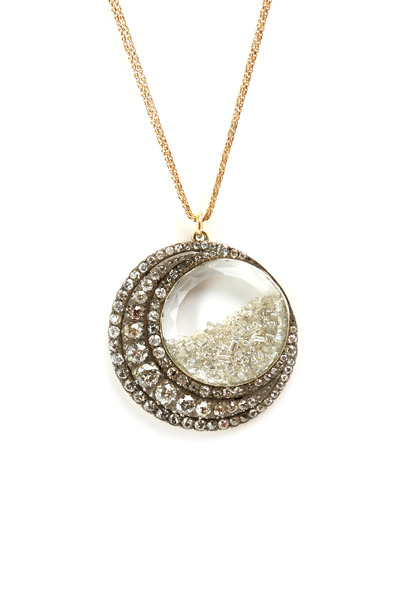 Renee Lewis - Yellow Gold Diamond Crescent Shake Necklace