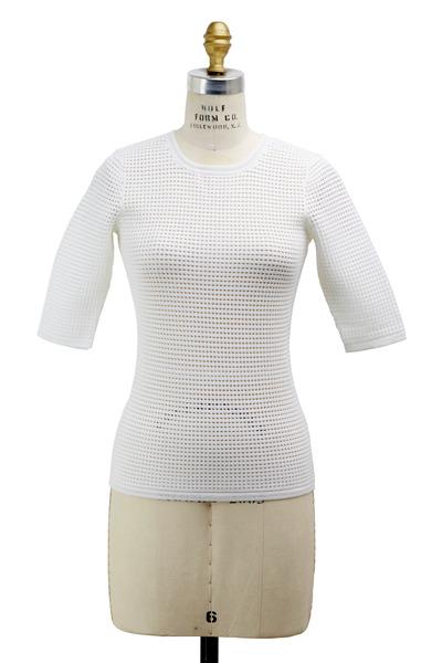 Yigal Azrouël - White Cotton Sweater