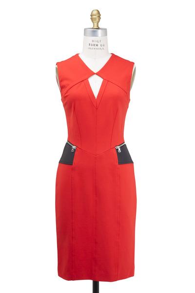 Yigal Azrouël - Red Compact Jersey Dress
