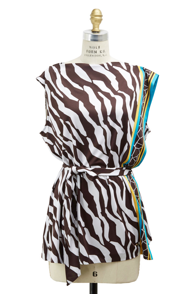 Zebra Viscose Tunic