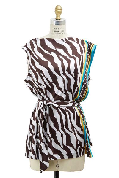 Escada - Zebra Viscose Tunic