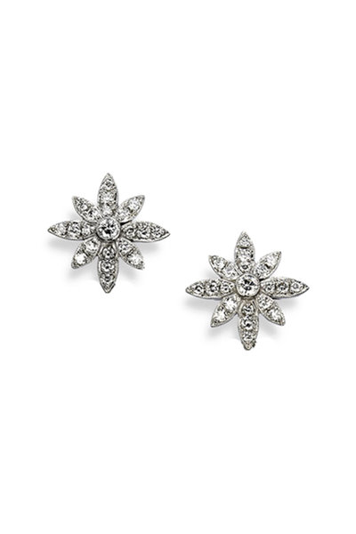 Aaron Henry - 18K White Gold Diamond Snowflake Earrings