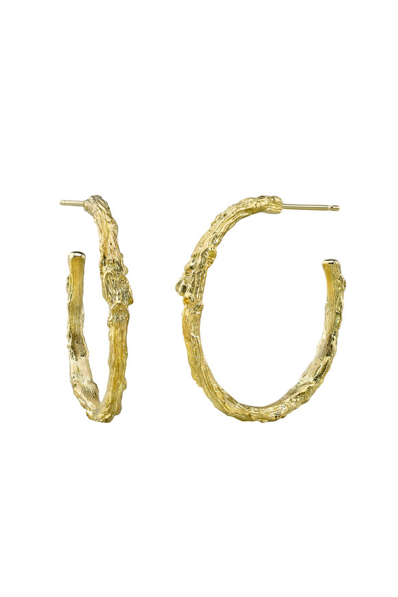 Aaron Henry 18K Yellow Gold Branch Hoops