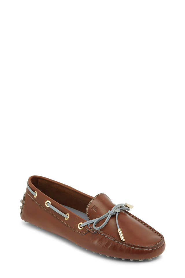 Heaven Brown Leather Moccasins