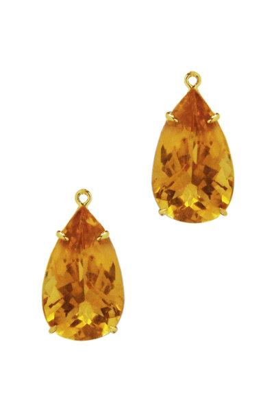 Paolo Costagli - 18K Yellow Gold Citrine Earring Pendant