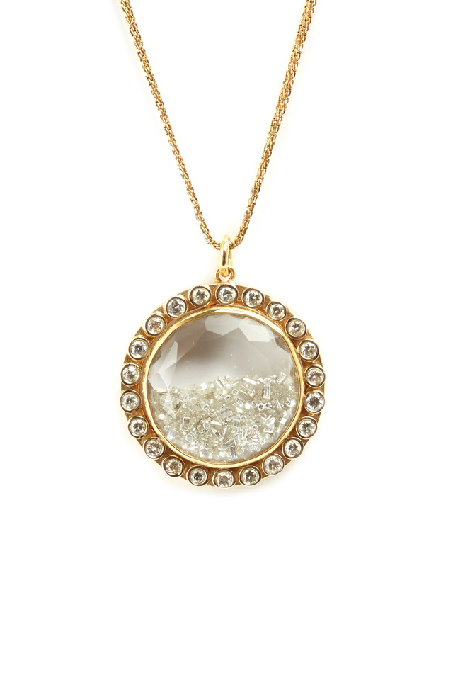 Yellow Gold Diamond Shake Necklace