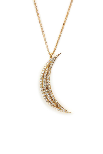 Renee Lewis - Yellow Gold Diamond Crescent Necklace