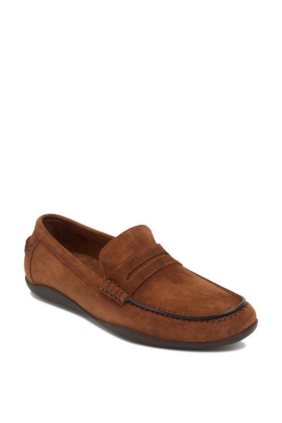 Harrys of London Basel 2 Tobacco Suede Penny Loafer