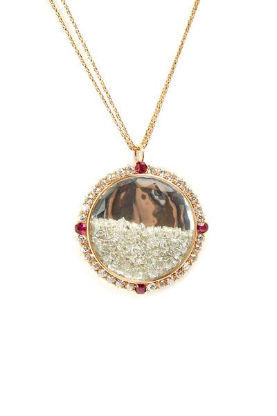 Renee Lewis - Yellow Gold Ruby Rim Diamond Shake Necklace