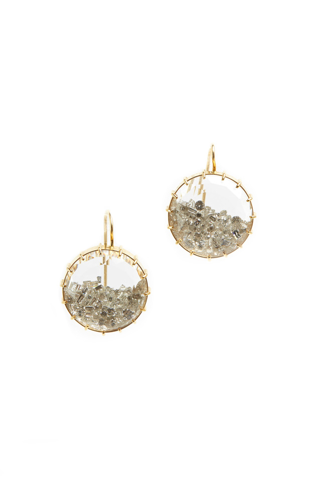 Yellow Gold Diamond Shake Earrings