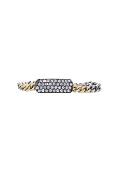 Sylva & Cie - 18K Gold & Silver Diamond Ten Table Bracelet