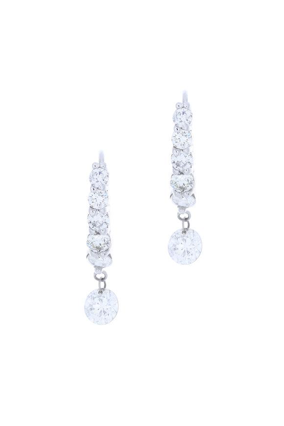 Kai Linz 18K White Gold Diamond Drop Earrings