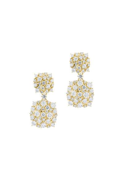 Paul Morelli - 18K Yellow Gold Diamond Confetti Drop Earrings