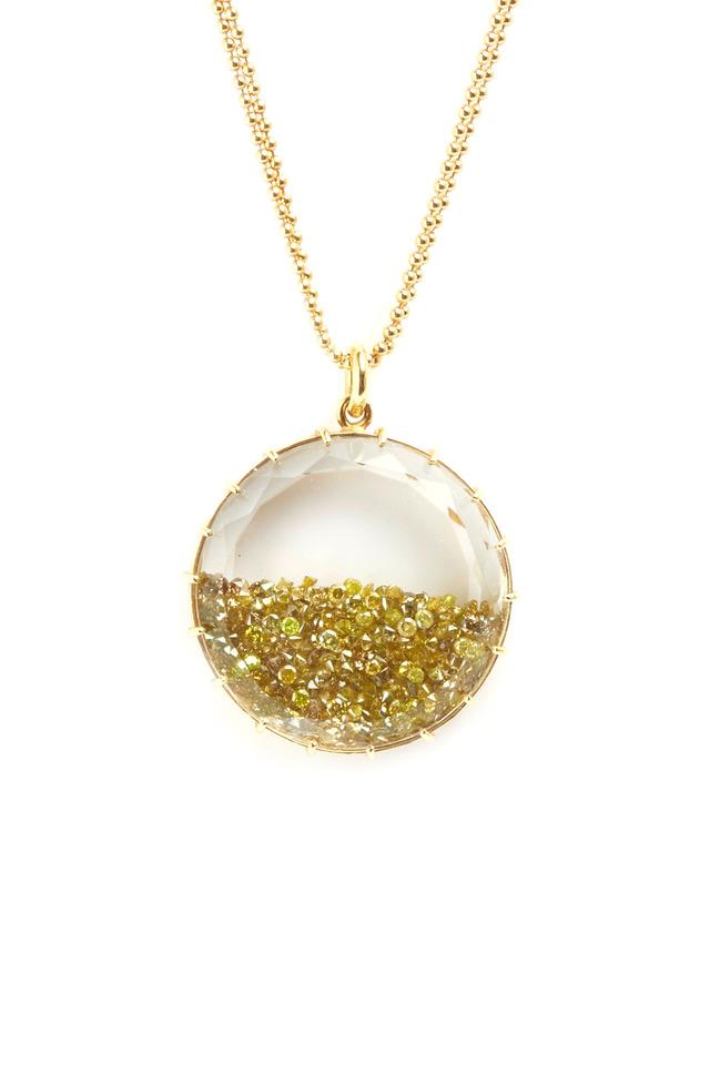 Yellow Gold Diamond Shake Necklace