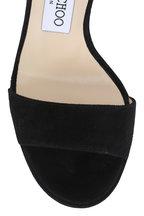 Jimmy Choo - Dora Black Suede Marbled Heel Sandal, 130mm