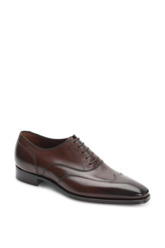 Gaziano & Girling Connaught Oak Leather Modern Wingtip Dress Shoe