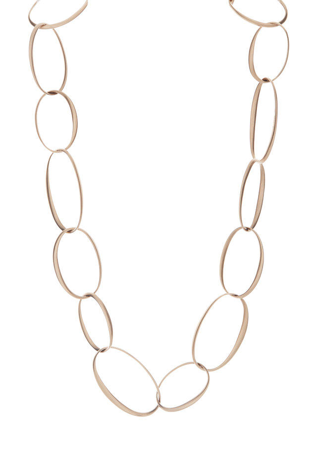 18K Rose Gold Victoria Large Link Necklace