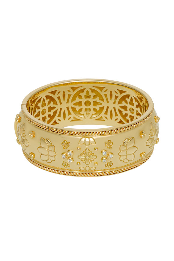 Temple St. Clair 18K Yellow Gold Nomad Wide Cuff Bracelet
