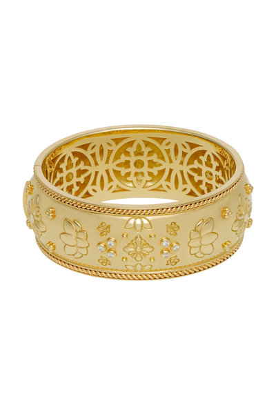 Temple St. Clair - 18K Yellow Gold Nomad Wide Cuff Bracelet