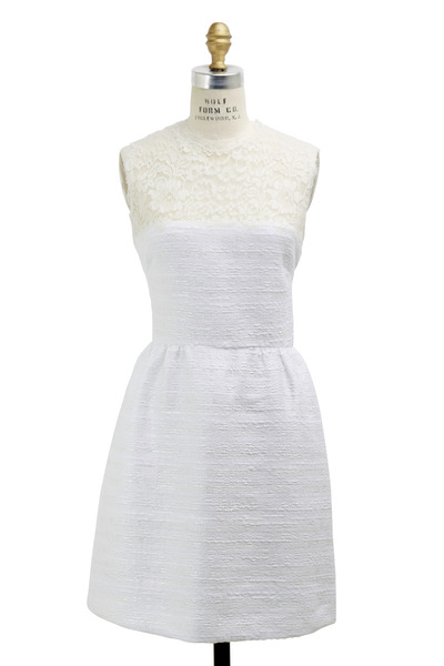 Valentino - Ivory Tweed Dress
