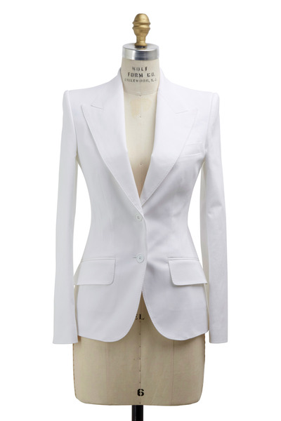 Dolce & Gabbana - White Cotton Jacket