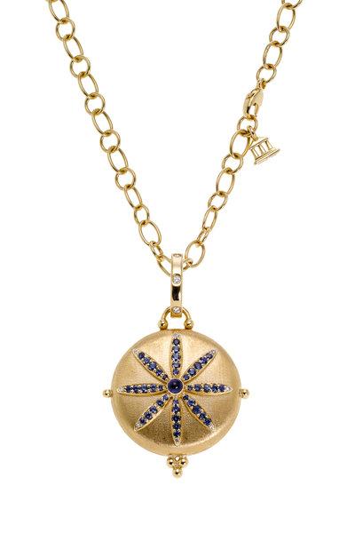 Temple St. Clair - 18K Gold Sapphire & Diamond Sorcerer Locket