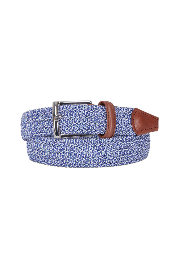 Anderson's Blue Mélange Stretch Woven Belt