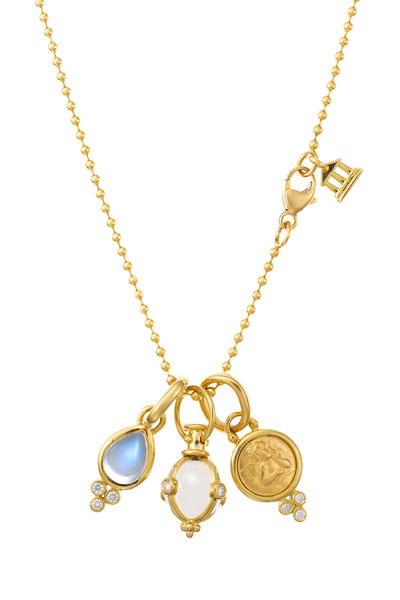 Temple St. Clair - 18K Yellow Gold Charm Gift Set Necklace
