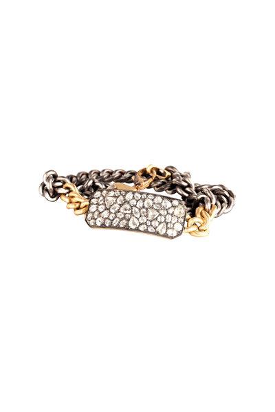 Sylva & Cie - 18K Gold & Silver Diamond Ten Table Bracelet