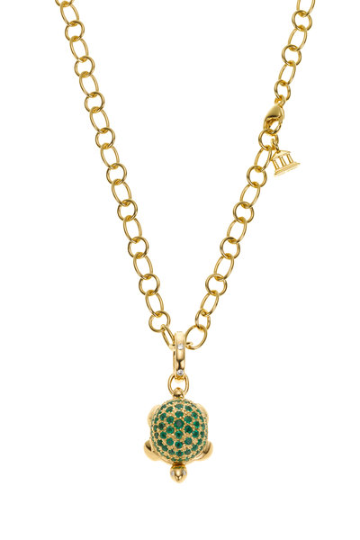 Temple St. Clair - 18K Yellow Gold Emerald Turtle Locket