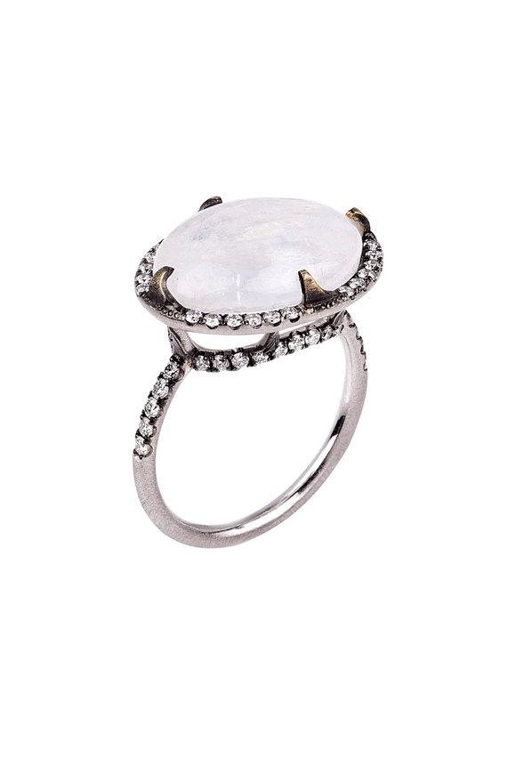 Sylva & Cie 18K Yellow Gold Moonstone & Diamond Ring