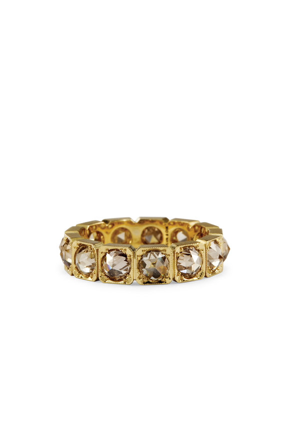 Sylva & Cie 18K Yellow Gold Champagne Diamond Ring