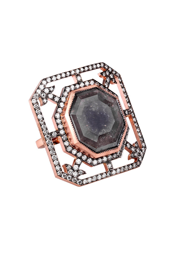 Sylva & Cie 14K Rose Gold Diamond Ring