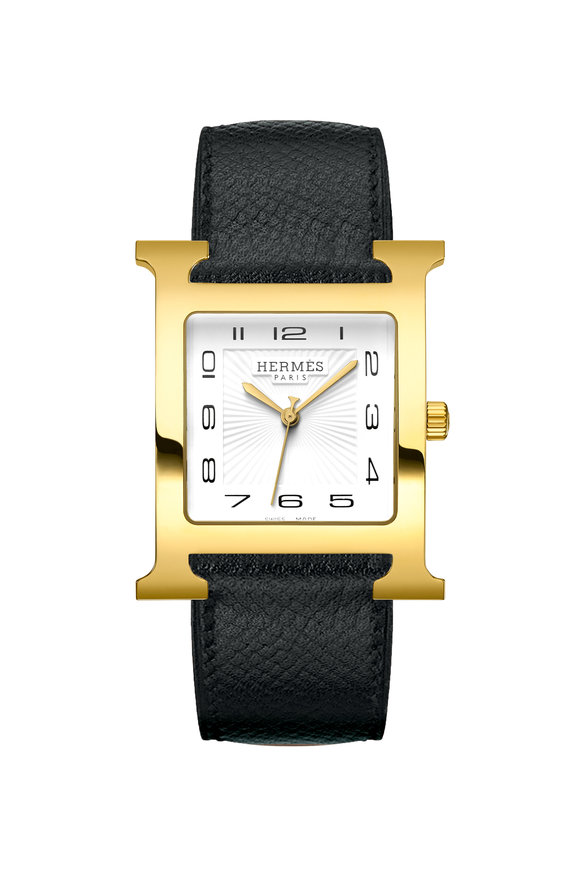 Hermès Heure H TGM Gold Plated Steel Watch