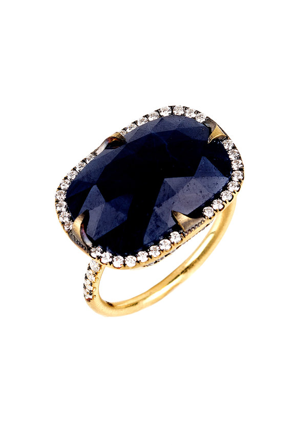 Sylva & Cie 18K Yellow Gold Sapphire & Diamond Ring