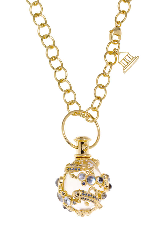 Temple St. Clair 18K Gold Crystal & Moonstone Flying Fish Amulet