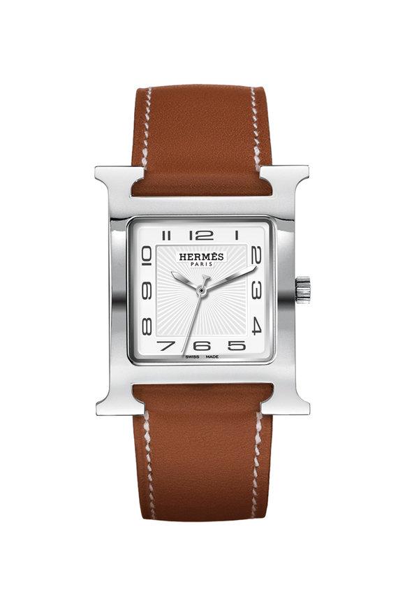 Hermès Heure H MM Steel Watch