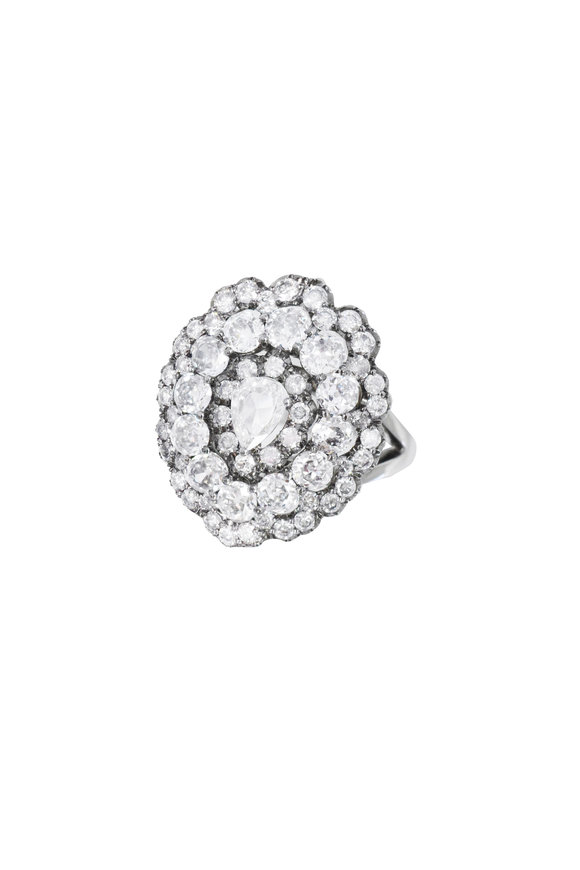 Nam Cho 18K White Gold Diamond Ring