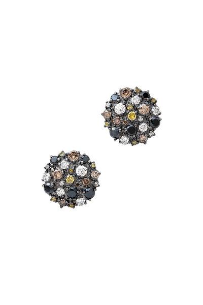 Paul Morelli - 18K White Gold Confetti Diamond Studs