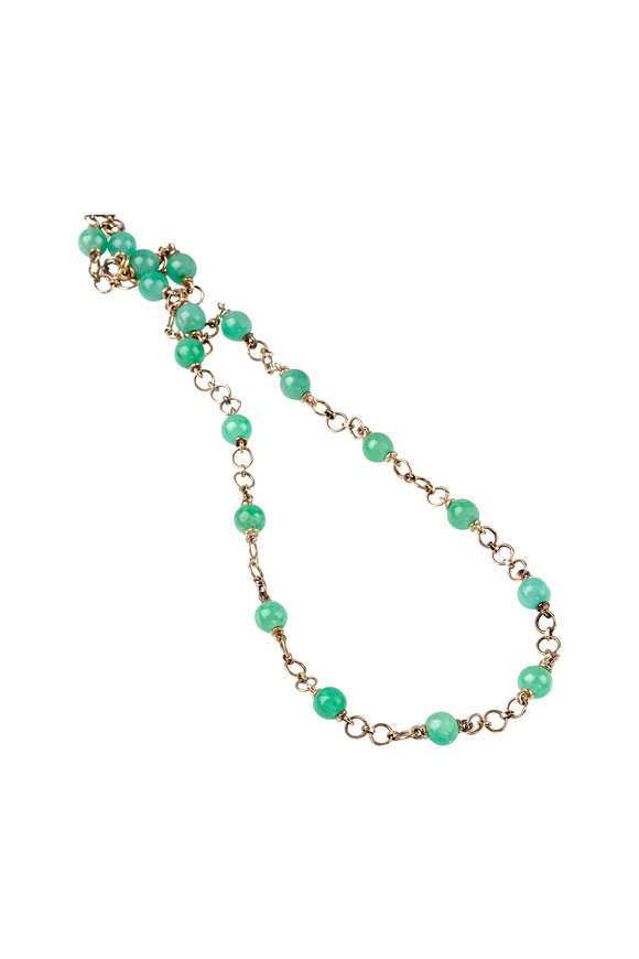 Sylva & Cie. Turquoise and Gold Bead Necklace JfOoIE