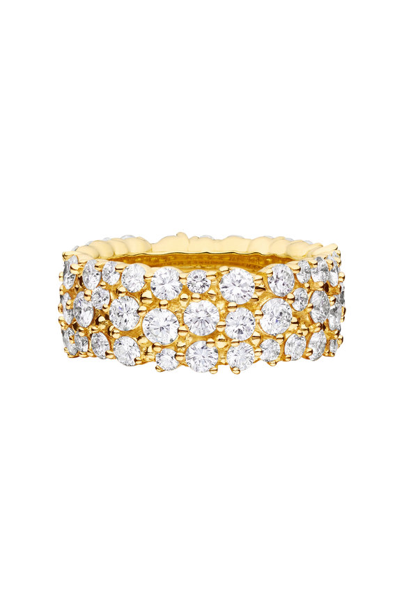 Paul Morelli 18K Yellow Gold Diamond Confetti Ring