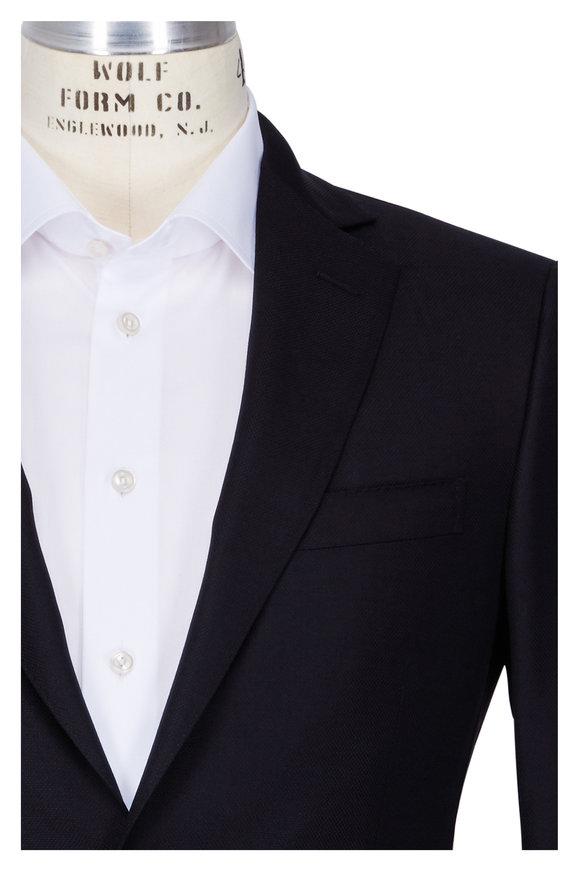 Pal Zileri  Solid Black Wool Sportcoat