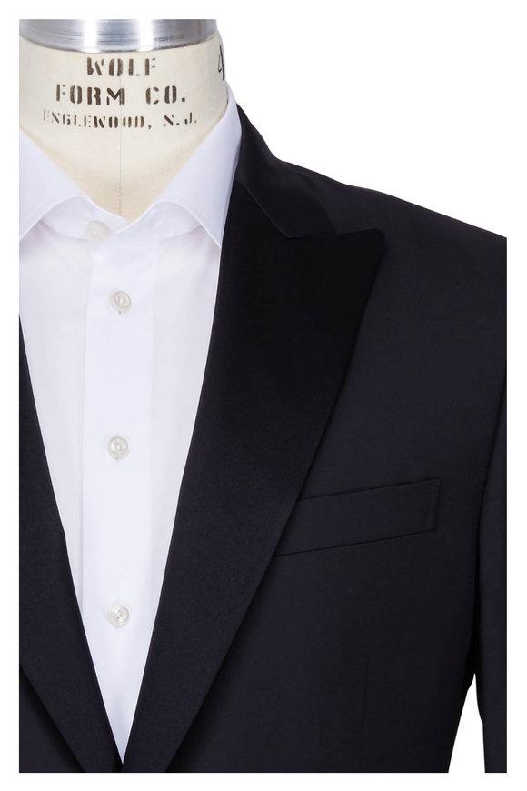 Pal Zileri  Solid Black Tuxedo