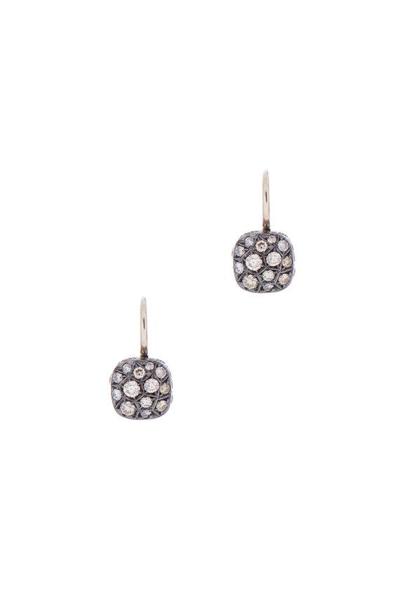 Pomellato 18K White Gold Brown Diamond Earrings