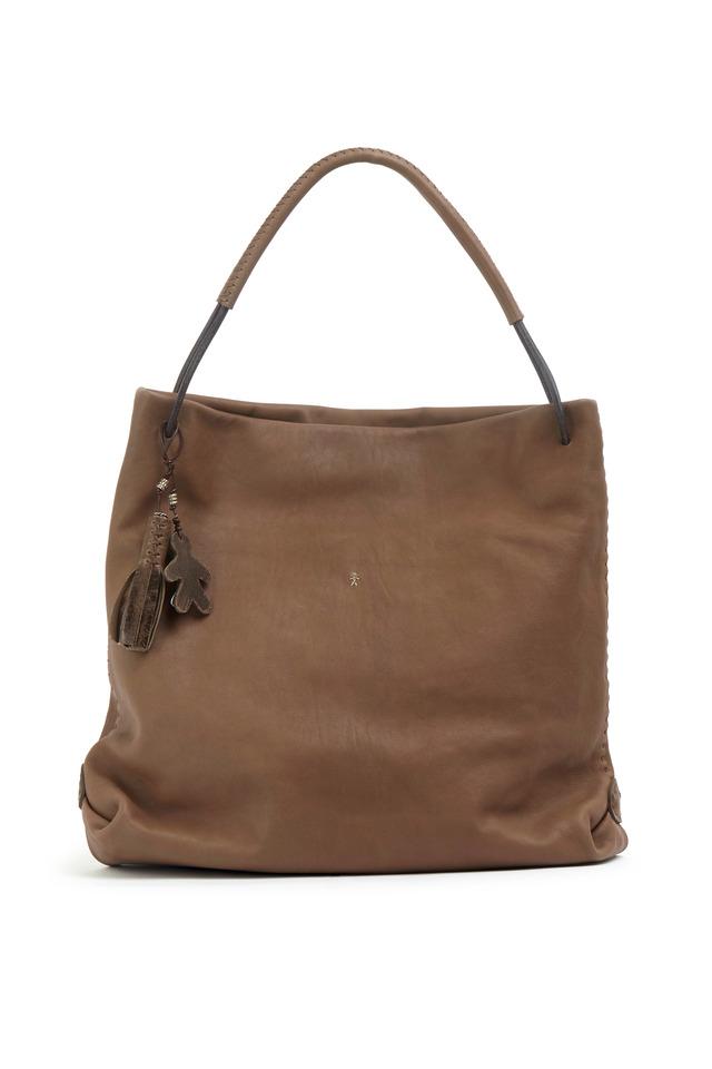 Irene Taupe Leather Hobo