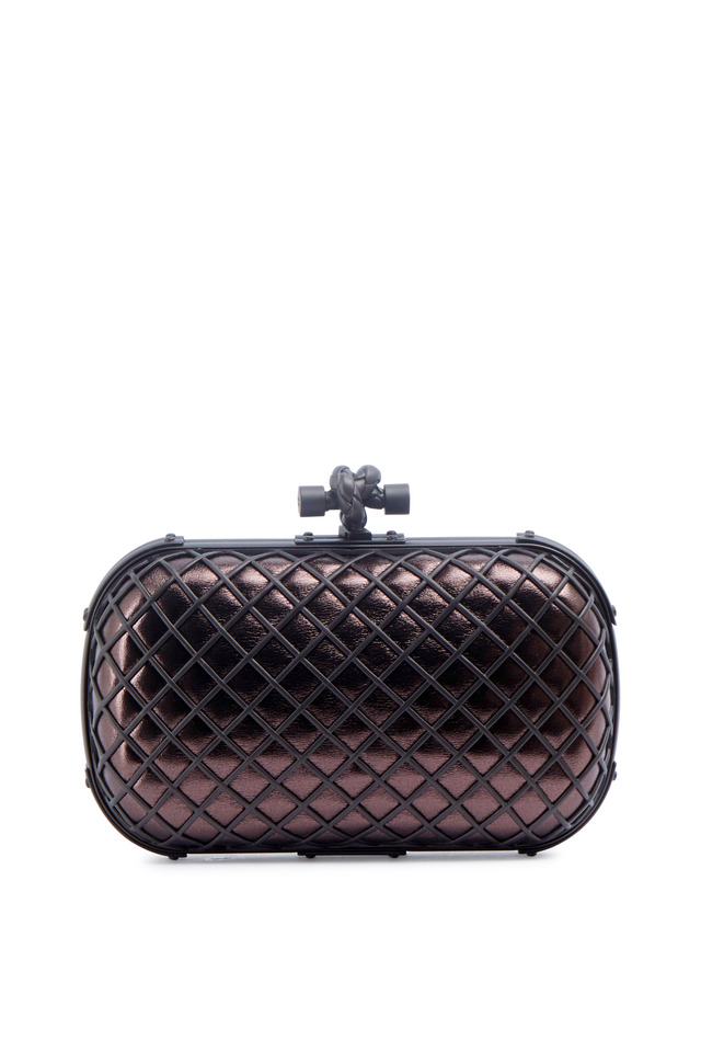 Metal Cage Knot Smog Clutch