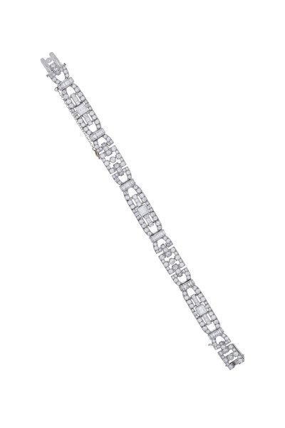 Fred Leighton - Platinum Diamond Art Deco Bracelet