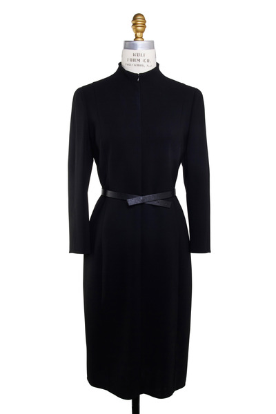 Akris - Black Wool Double Face Dress