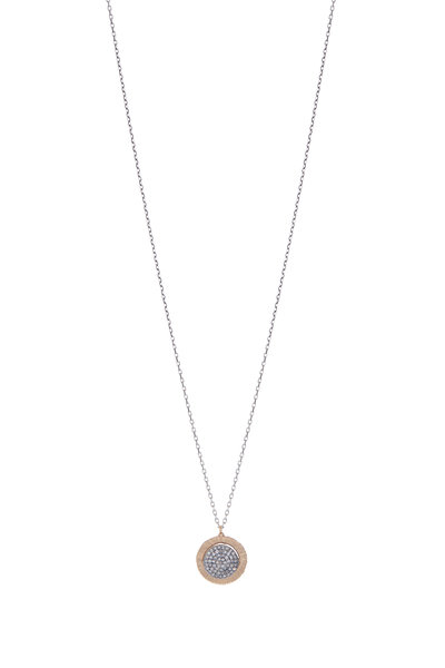 Dana Kellin - Gold & Silver Micro Pavé Diamond Pendant Necklace
